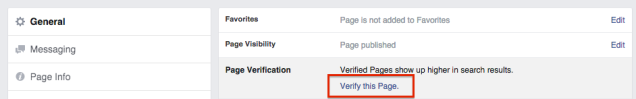 verify business page on facebook